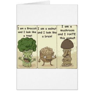 I am a mushroom greeting card