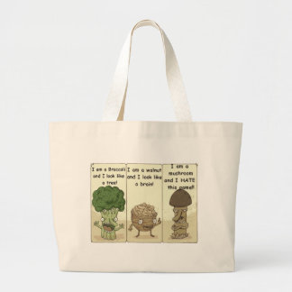 I am a mushroom large tote bag