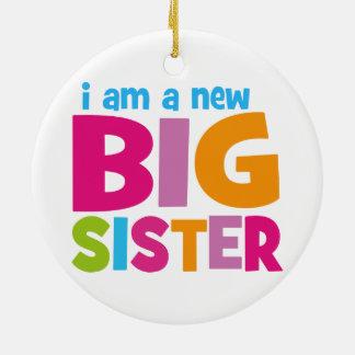 I am a new Big Sister Round Ceramic Decoration