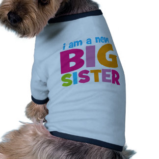 I am a new Big Sister Ringer Dog Shirt