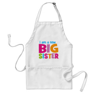 I am a new Big Sister Standard Apron