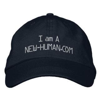 I am A New-Human.com Baseball Cap Black
