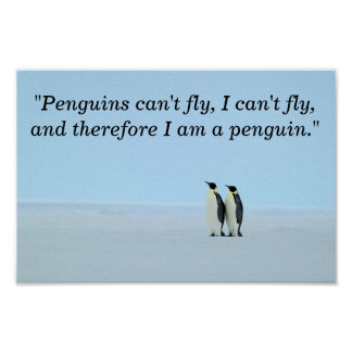 I Am A Penguin Poster