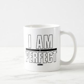 I AM a PERFECT asshole Basic White Mug
