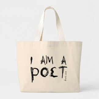 I AM A POET CANVAS BAGS