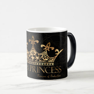 I Am A Princess w/Crown Black 11 oz  Morphing Mug