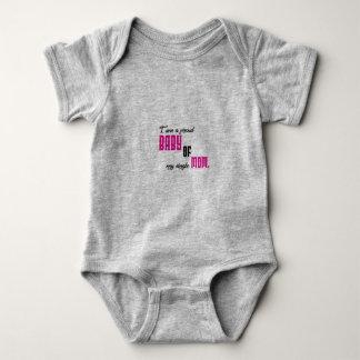 I am a proud baby of my single mom baby bodysuit