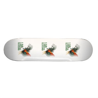 I Am A Rooster Illusion Skate Board