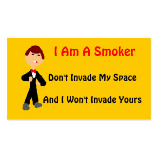 I Am A Smoker 2 Pack Of Standard Business Cards
