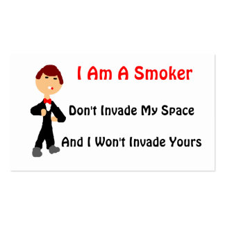 I Am A Smoker Pack Of Standard Business Cards