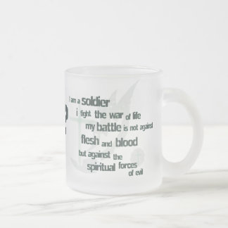 I am a Soldier Christian frosted mug