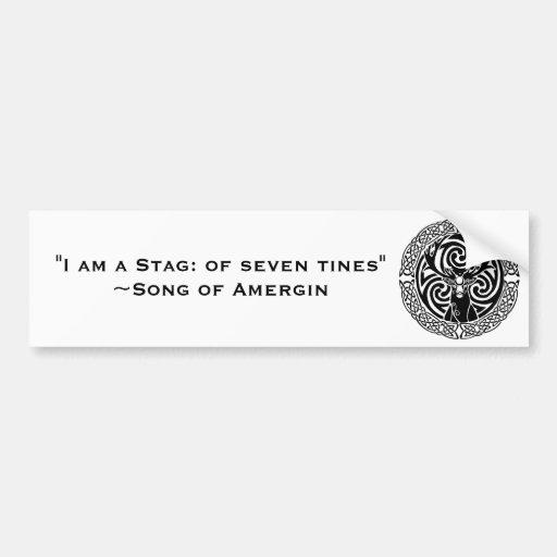 I am a Stag: Jet Bumper Stickers