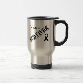 I am a Survivor - Black Ribbon Travel Mug