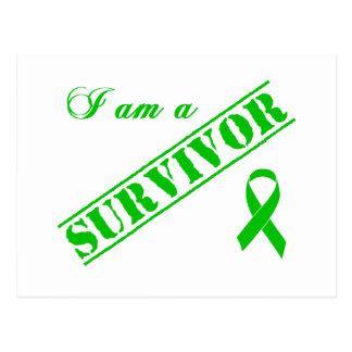 I am a Survivor - Green Ribbon Postcard