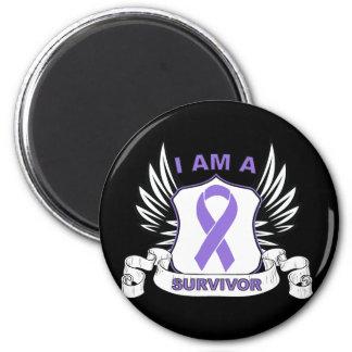 I am a Survivor - Hodgkins Lymphoma 6 Cm Round Magnet