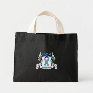 I am a Survivor - Thyroid Cancer Mini Tote Bag