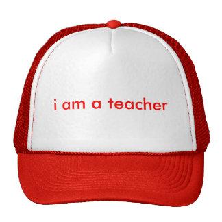 i am a teacher mesh hat