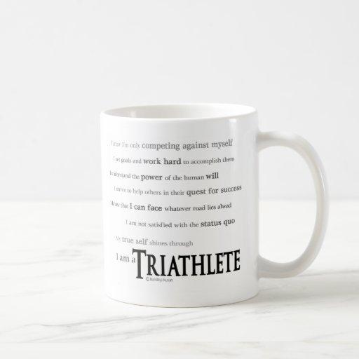 I am a Triathlete Basic White Mug