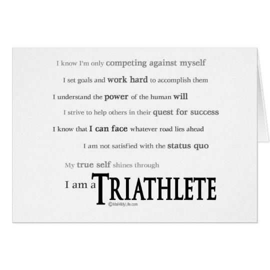 I am a Triathlete Card