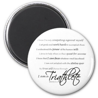 I am a Triathlete - Script Magnet