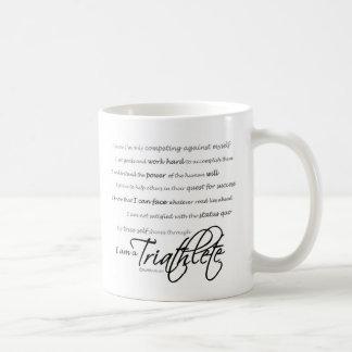 I am a Triathlete - Script Coffee Mug