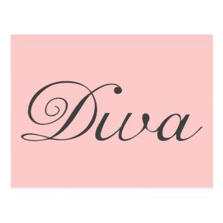 I am a true diva postcard