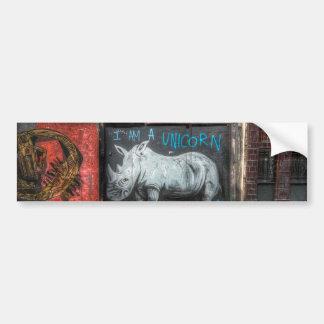 I Am A Unicorn, Shoreditch Graffiti (London) Bumper Sticker