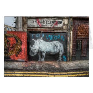 I Am A Unicorn, Shoreditch Graffiti (London) Card