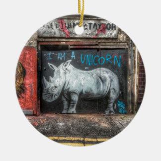 I Am A Unicorn, Shoreditch Graffiti (London) Christmas Ornament