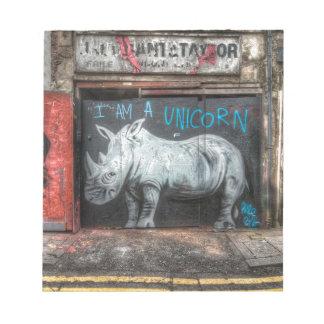 I Am A Unicorn, Shoreditch Graffiti (London) Notepad