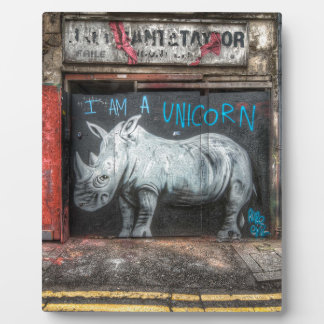 I Am A Unicorn, Shoreditch Graffiti (London) Plaque
