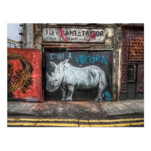 I Am A Unicorn, Shoreditch Graffiti (London) Postcard