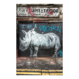 I Am A Unicorn, Shoreditch Graffiti (London) Stationery