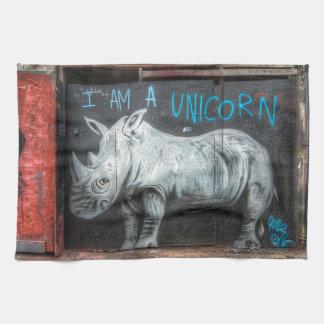 I Am A Unicorn, Shoreditch Graffiti (London) Tea Towel