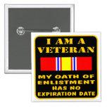 I Am A Veteran My Oath Of Enlistment Has No Expire 15 Cm Square Badge