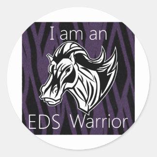 I am a warrior.png round sticker
