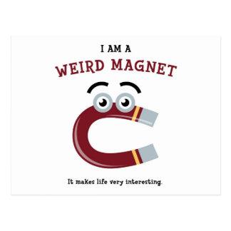 I Am a Weird Magnet Postcard