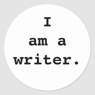 I am a writer sticker. classic round sticker
