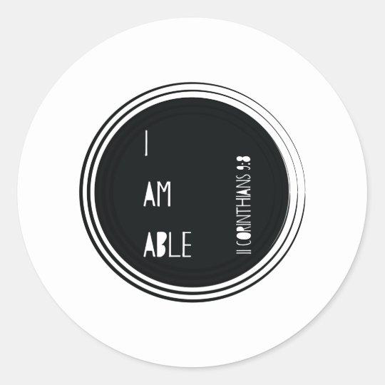 """I am able"" Corinthians Christian Bible Verse Classic"
