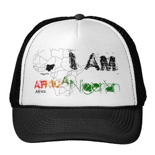 I AM , AF, RIC, A, Nigerian Hats