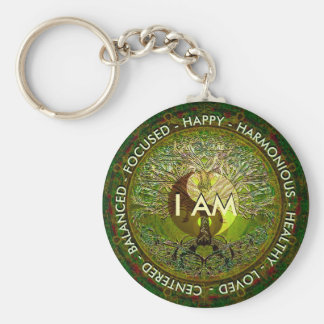 I Am Affirmation Yin Yang Key Ring
