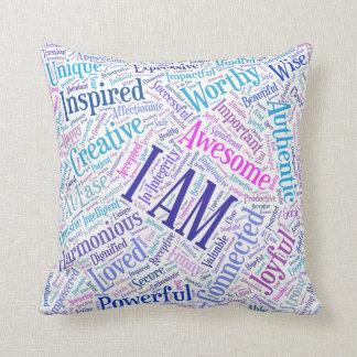 I Am Affirmations Throw Pillow