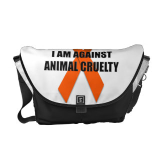 I Am Against Animal Cruelty Messenger Bag