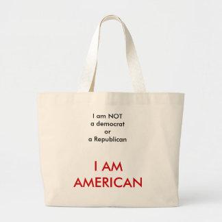 I am American Jumbo Tote Bag