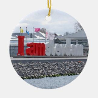 I am Amsterdam Sign, Netherlands Christmas Ornament