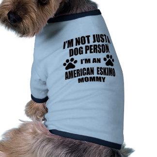I am an American Eskimo Mommy Ringer Dog Shirt