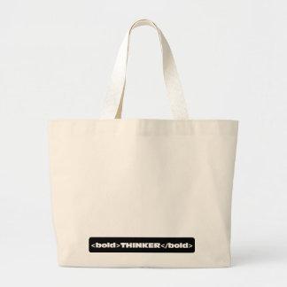 I am an innovative bold thinker 2 canvas bags