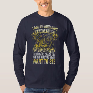 I am aquarius long sleeve  t-shirt
