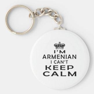 I am Armenian I can't keep calm Basic Round Button Key Ring