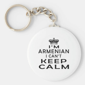 I am Armenian I can't keep calm Basic Round Button Key Ring